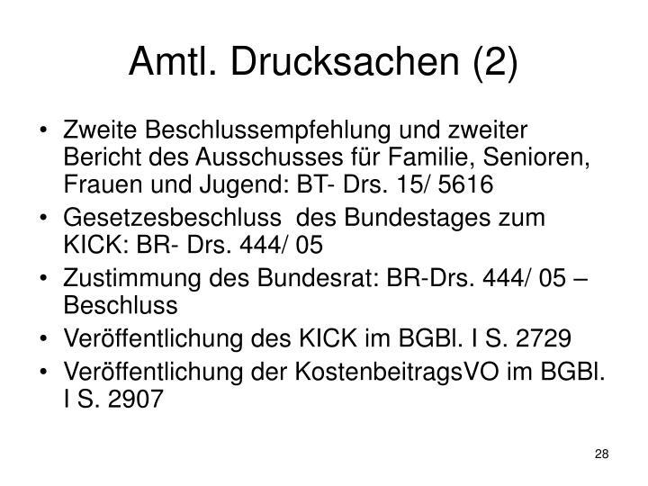 Amtl. Drucksachen (2)