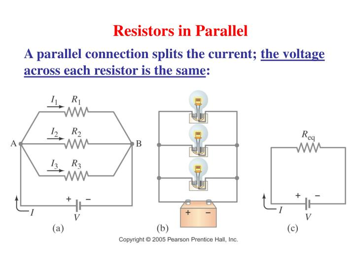 how to find voltage across a resistor in parallel