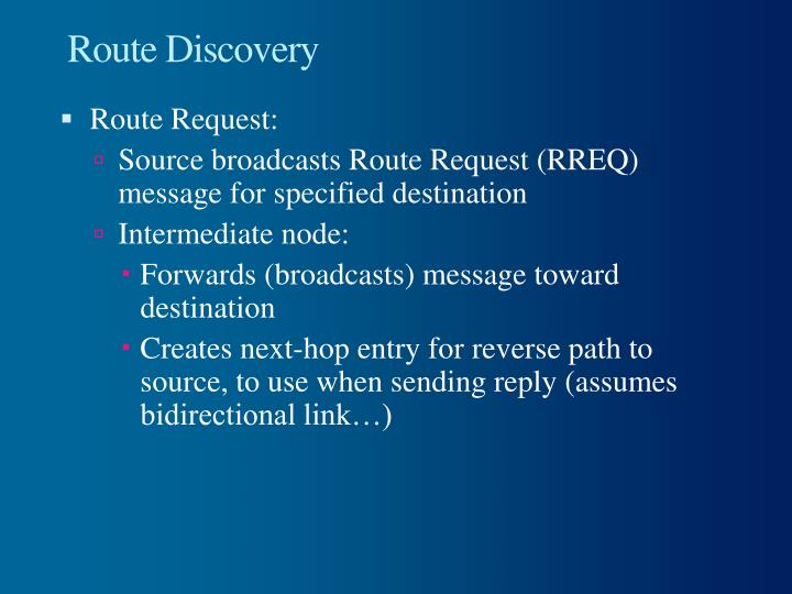 Route Discovery