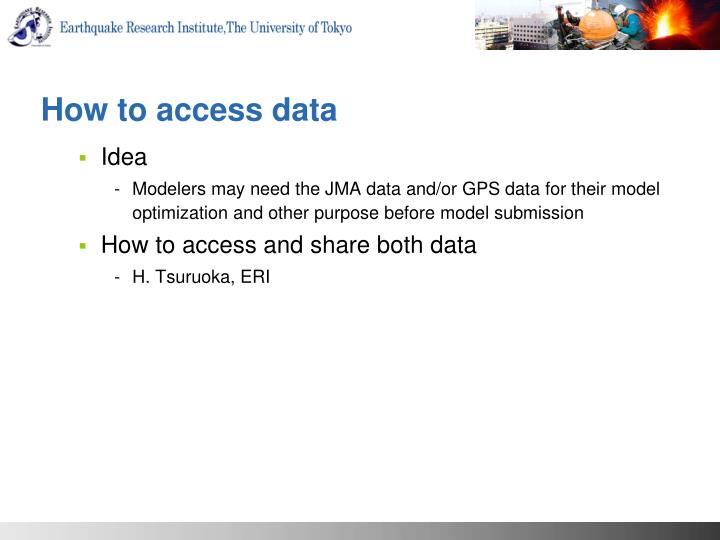 How to access data