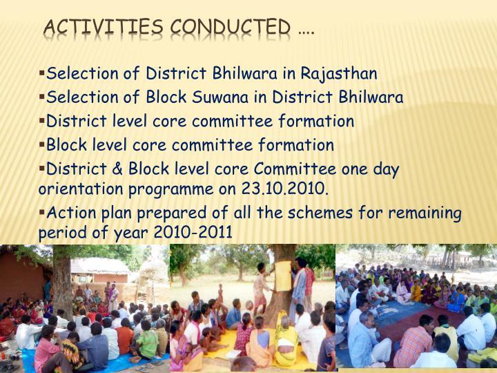 Selection of District Bhilwara in Rajasthan