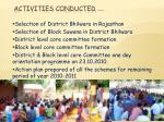 activities conducted