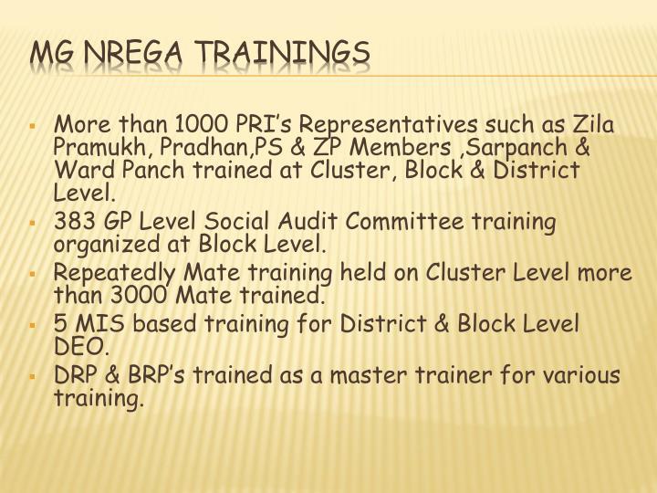 More than 1000 PRI's Representatives such as
