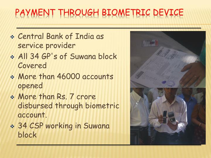 Payment through biometric device
