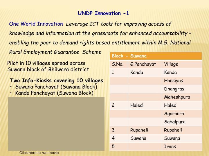 UNDP Innovation -1