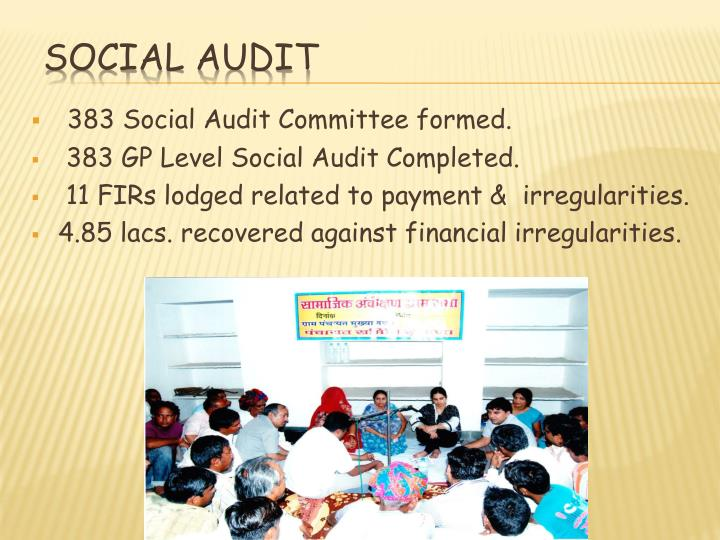 383 Social Audit Committee formed.