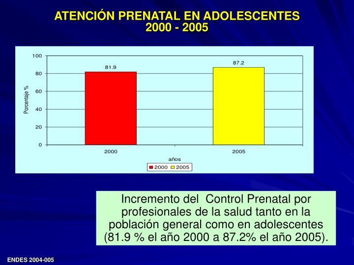 ATENCIÓN PRENATAL EN ADOLESCENTES