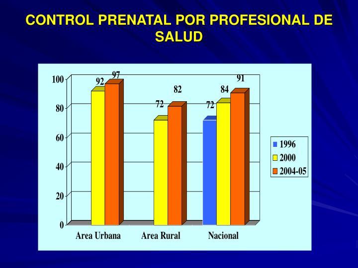 CONTROL PRENATAL POR PROFESIONAL DE SALUD