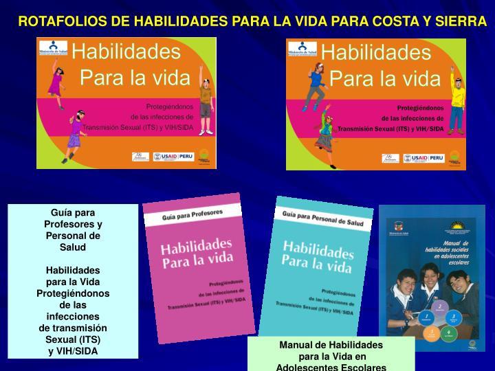 ROTAFOLIOS DE HABILIDADES PARA LA VIDA PARA COSTA Y SIERRA