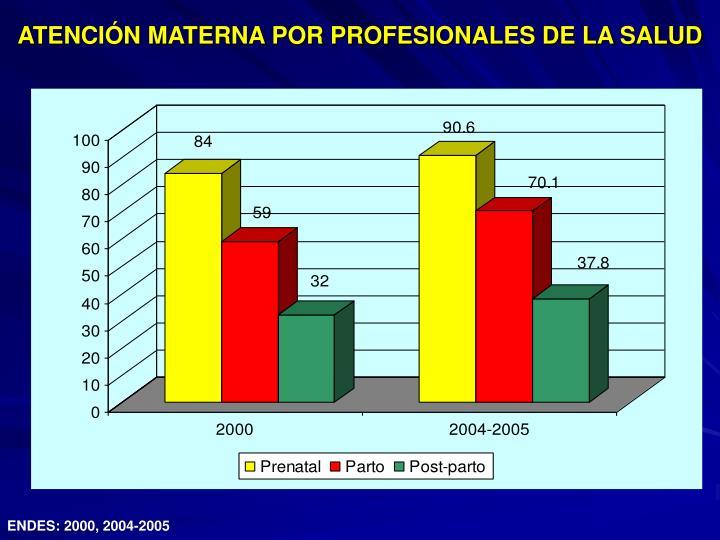 ATENCIÓN MATERNA POR PROFESIONALES DE LA SALUD