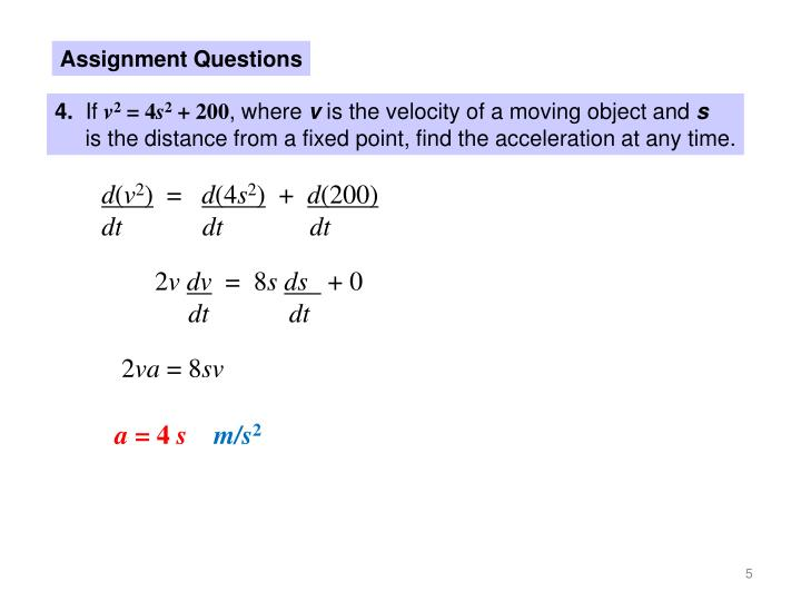 Assignment Questions