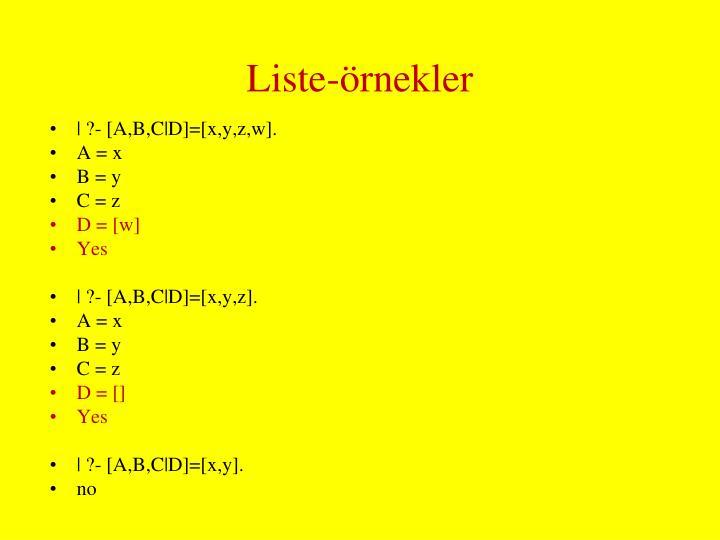 Liste-örnekler