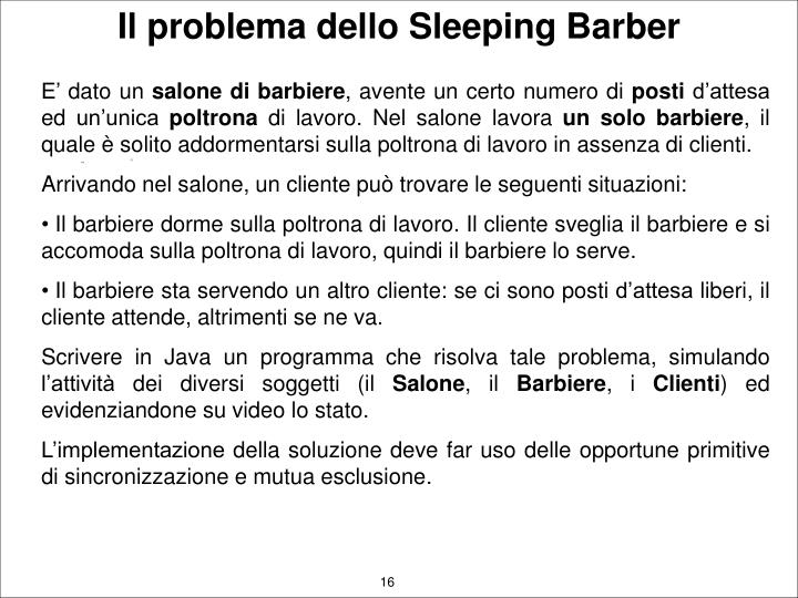 Il problema dello Sleeping Barber