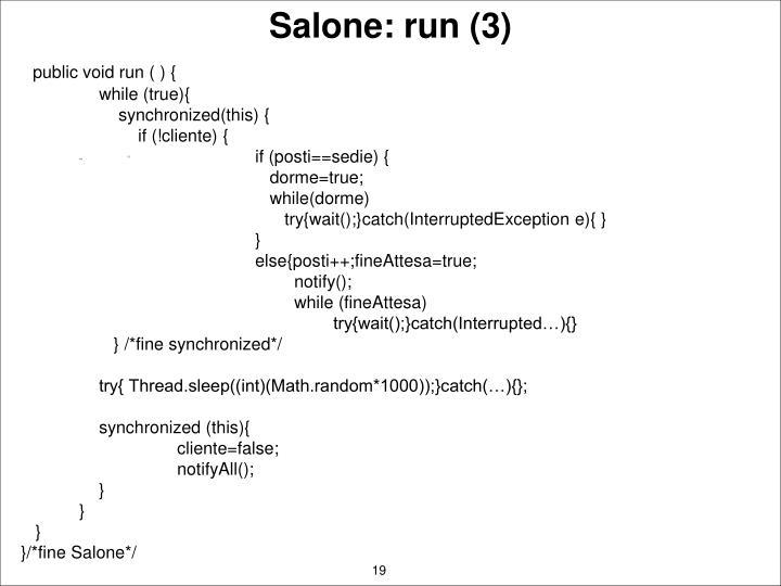 Salone: run (3)