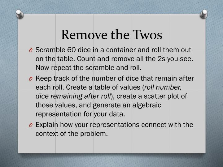 Remove the Twos
