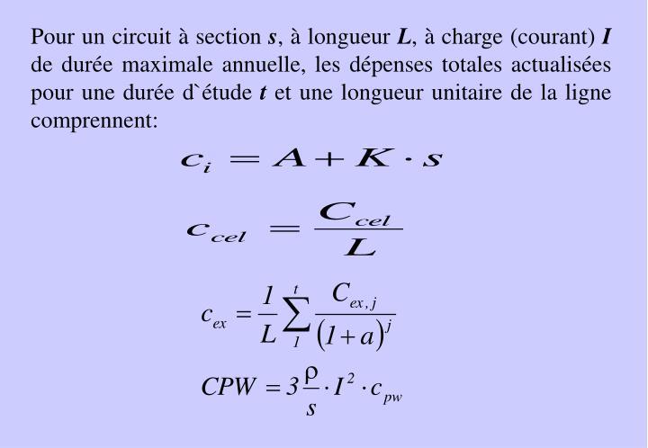 Pour un circuit
