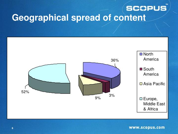 Geographical spread of content