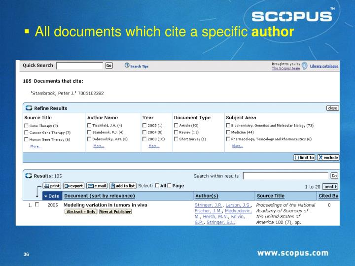 All documents which cite a specific