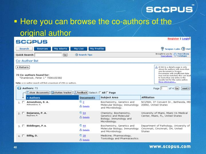Here you can browse the co-authors of the original author