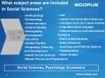 what subject areas are included in social sciences