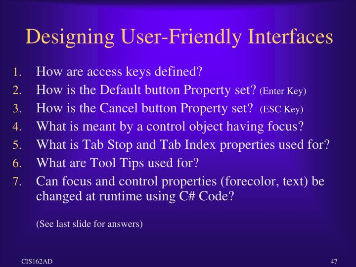 Designing User-Friendly Interfaces
