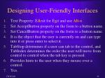 designing user friendly interfaces1