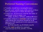 preferred naming conventions