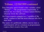 tribune 12 30 1999 continued
