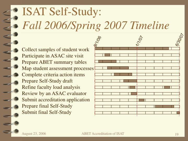 ISAT Self-Study: