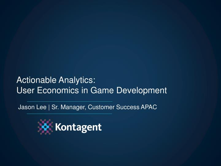 Actionable Analytics: