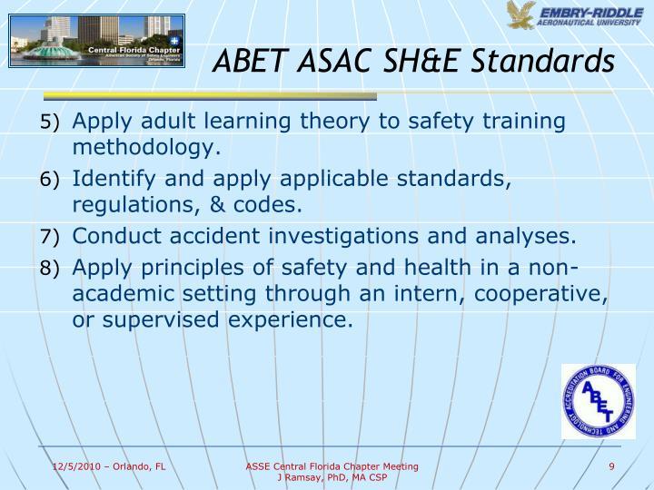 ABET ASAC SH&E Standards