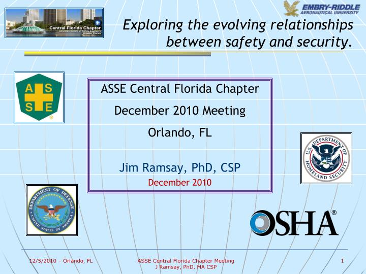Exploring the evolving relationships between safety and security