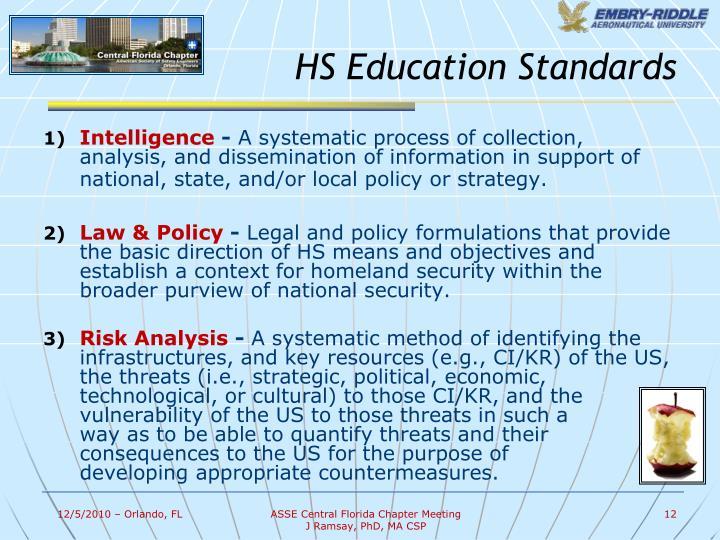 HS Education Standards
