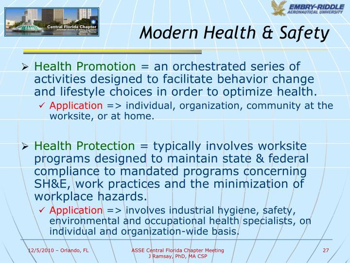 Modern Health & Safety