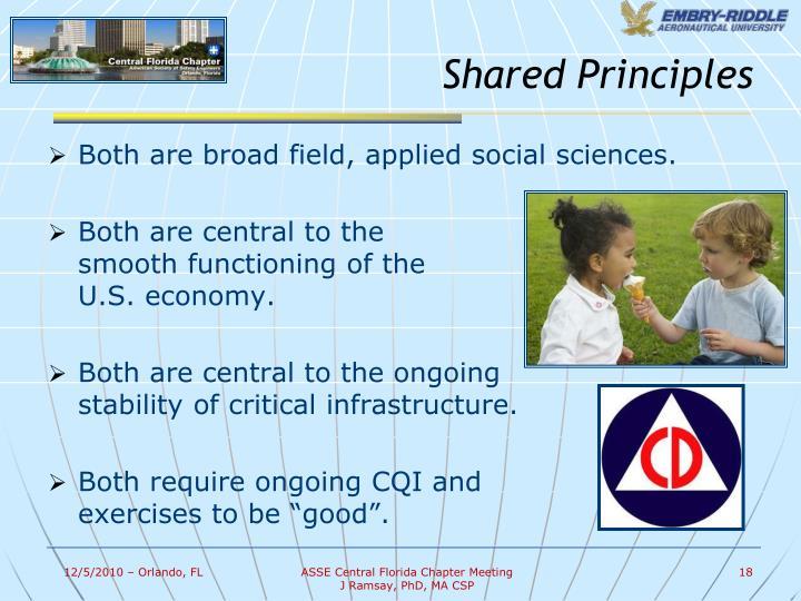 Shared Principles