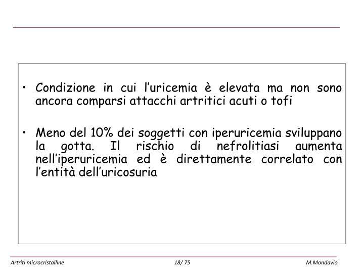 Iperuricemia asintomatica