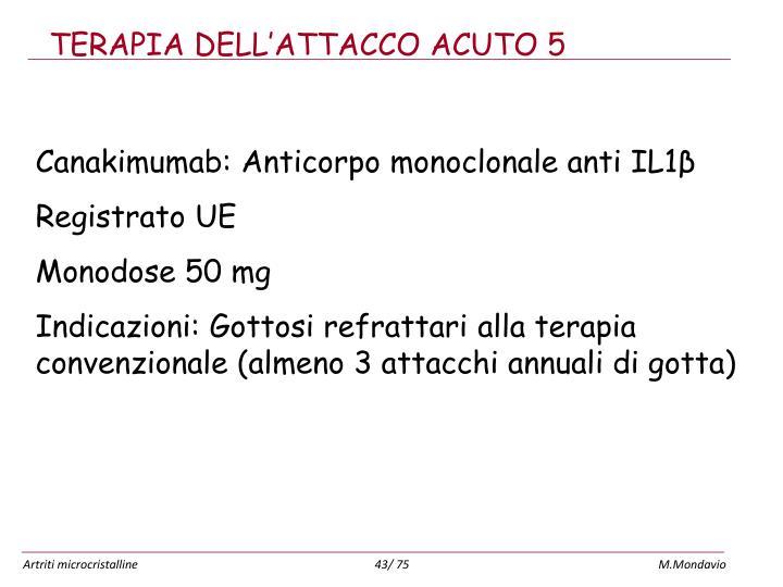 TERAPIA DELL'ATTACCO ACUTO 5