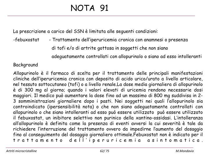 NOTA  91