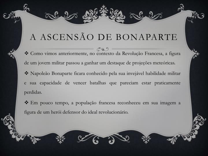 A ascensão de Bonaparte