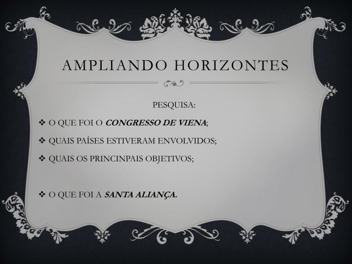 AMPLIANDO HORIZONTES