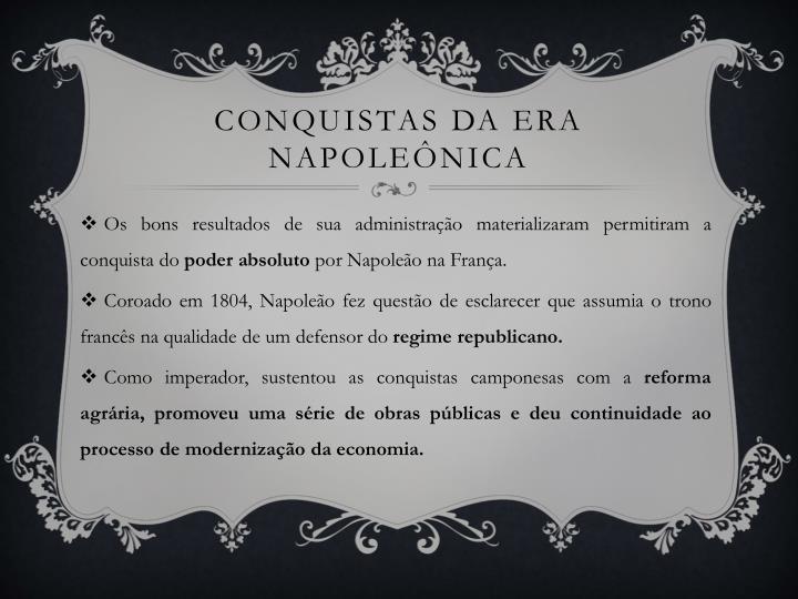 Conquistas da era napoleônica