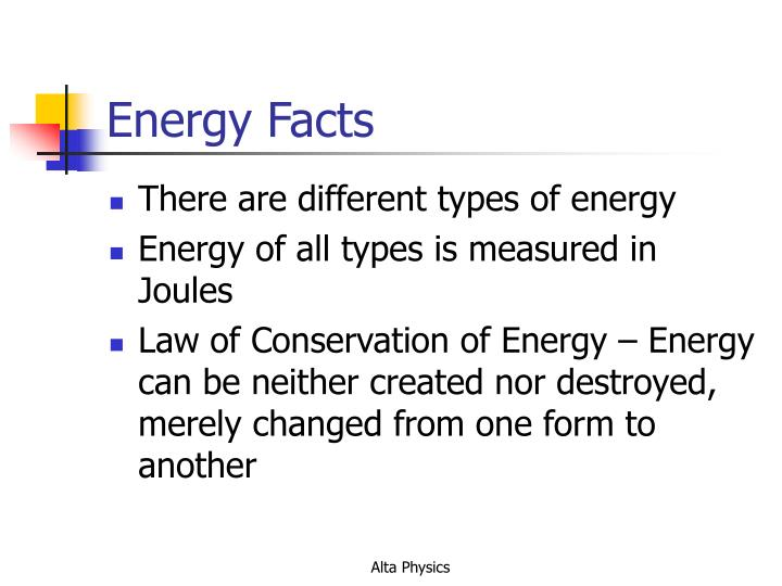 Energy facts