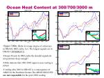ocean heat content at 300 700 3000 m