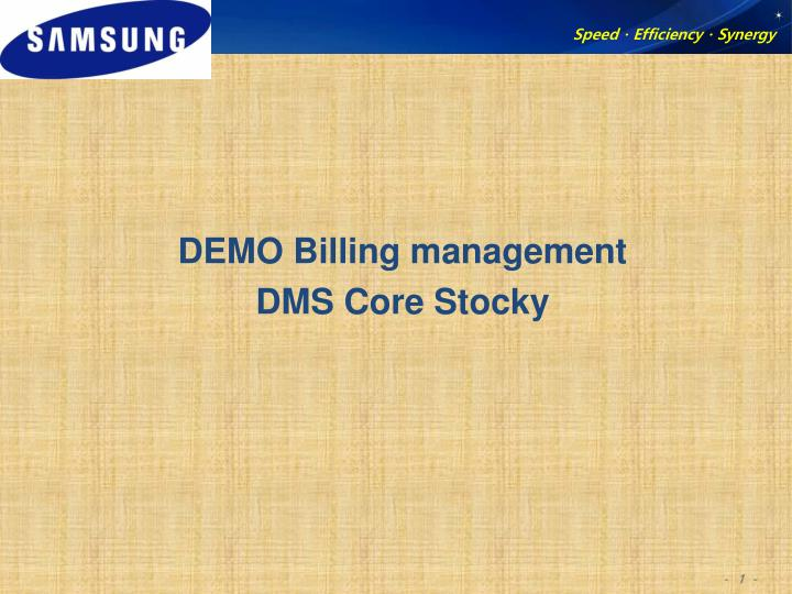 DEMO Billing management