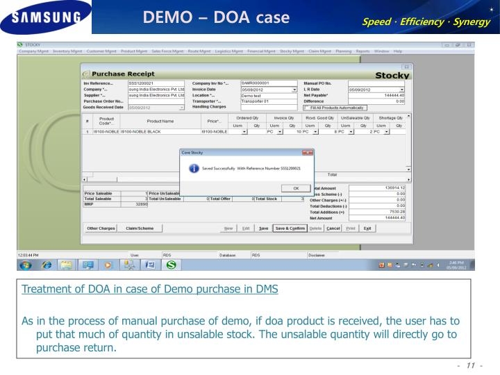 DEMO – DOA case