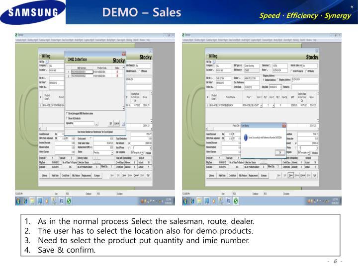 DEMO – Sales