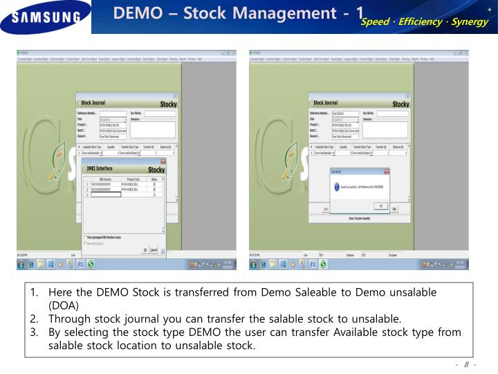 DEMO – Stock Management - 1