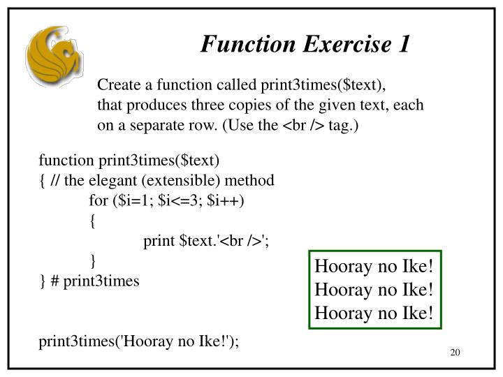Function Exercise 1