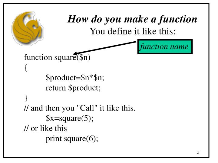 How do you make a function