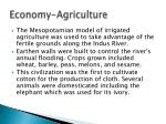 economy agriculture